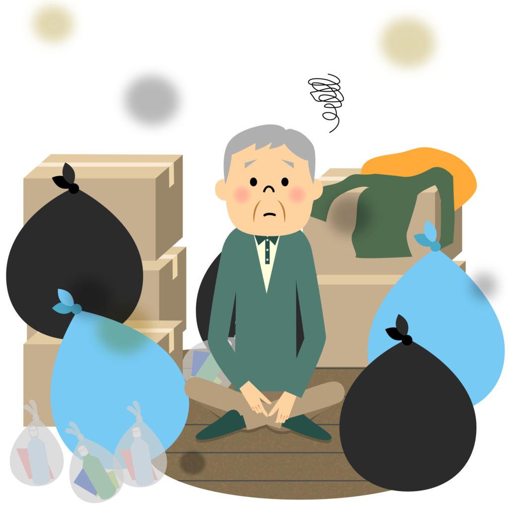 高齢者とゴミ
