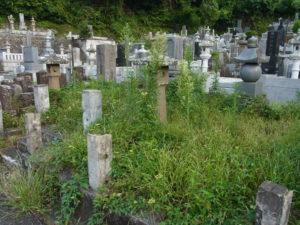 お墓は放置すると草が生えっぱなしに・・・