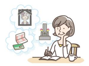 自治体から配られたエンディングノートを使う女性