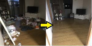 名古屋市北区のゴミ屋敷清掃ビフォーアフター02