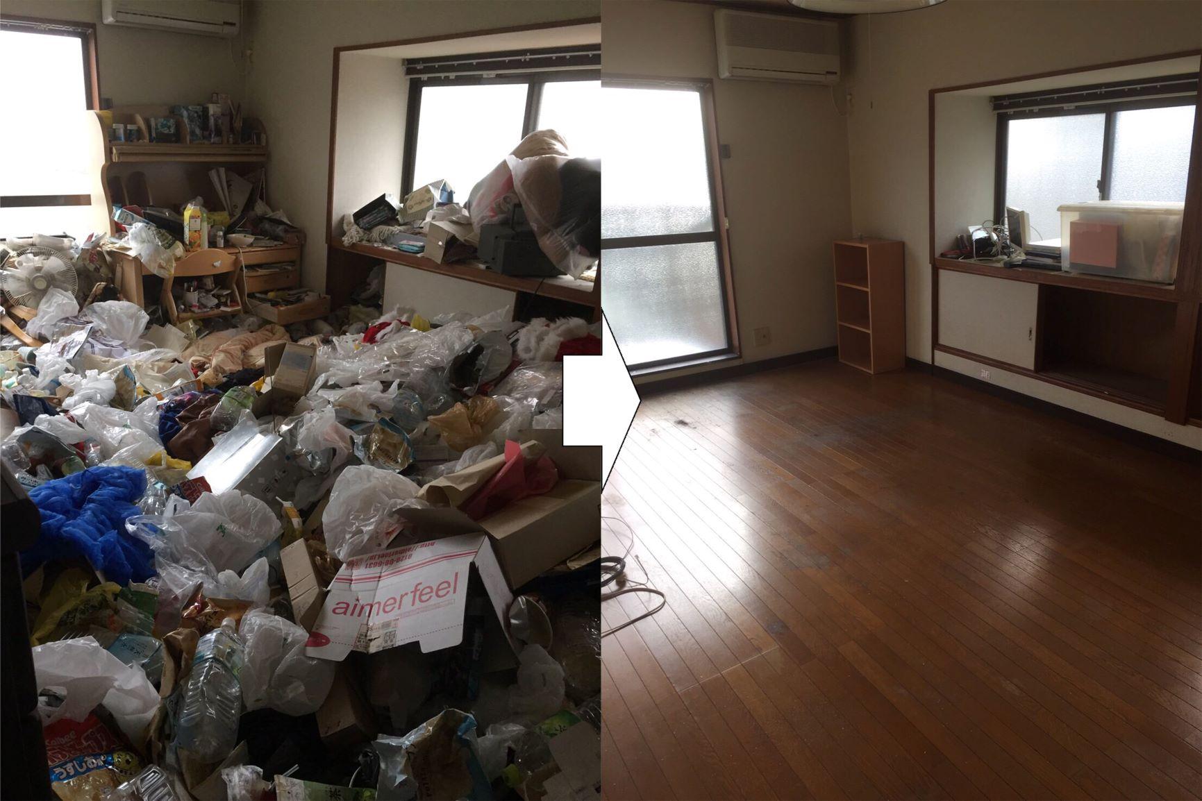 ゴミ屋敷 吹田市 ビフォーアフター 特徴