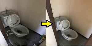 岡崎市 ゴミ屋敷 トイレ 03