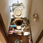 名古屋市港区のゴミ屋敷片付けビフォートイレ