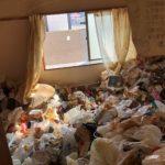 名古屋市港区のゴミ屋敷片付けビフォー寝室