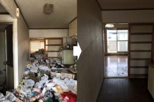 愛知県 豊田市 ゴミ屋敷 ビフォーアフター