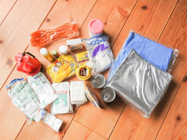防災対策で食料の収納