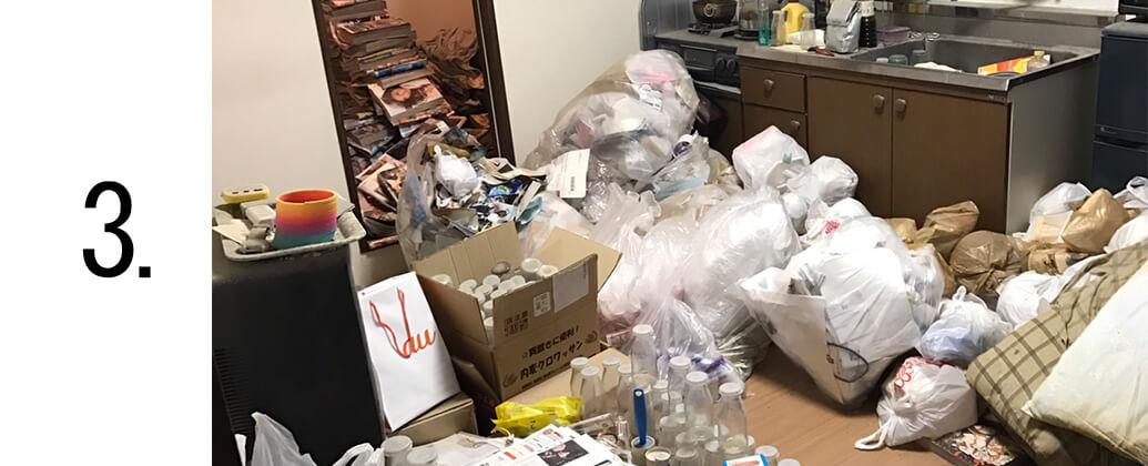掃除の搬出作業