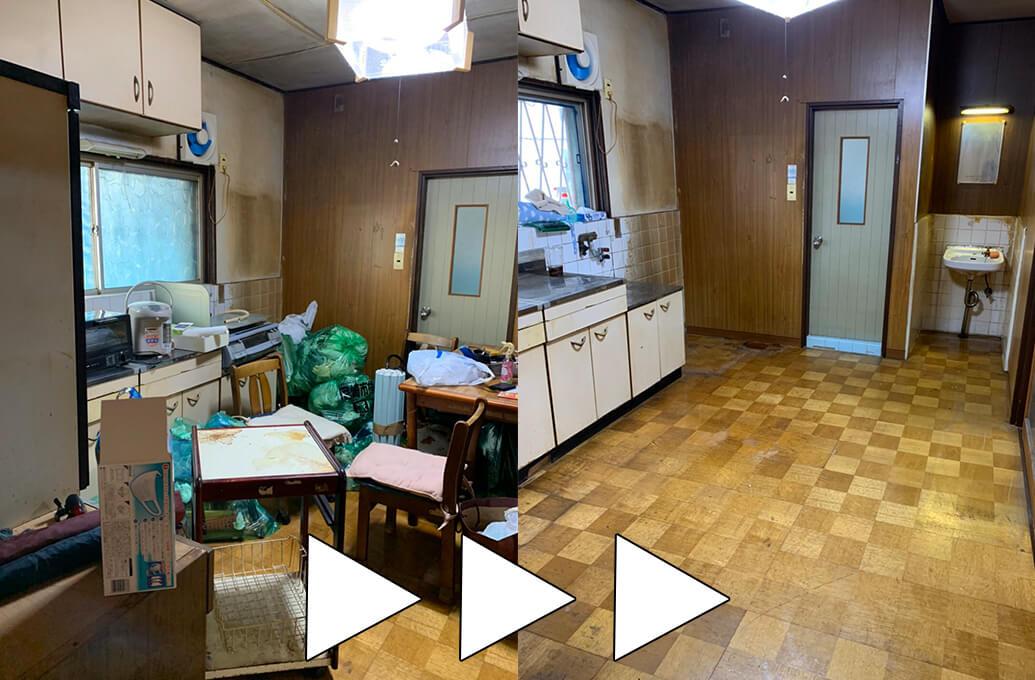 西淀川区での引っ越しに伴う回収実績