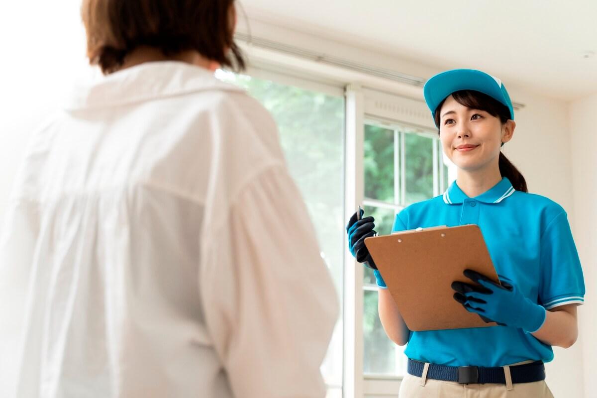 女性スタッフのいる掃除業者